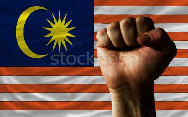 Punho Malásia bandeira poder inteiro Foto stock © vepar5