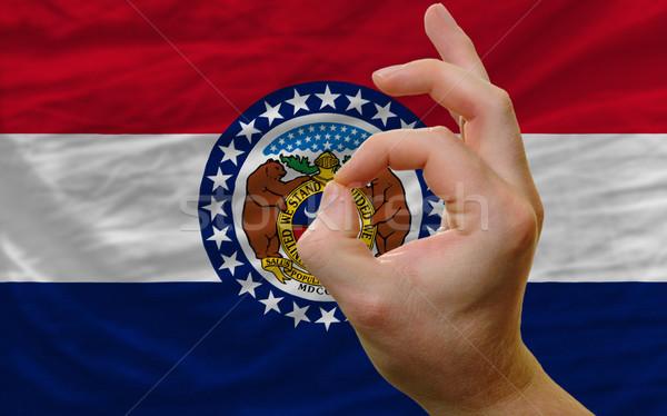 Gesto Misuri bandera hombre Foto stock © vepar5
