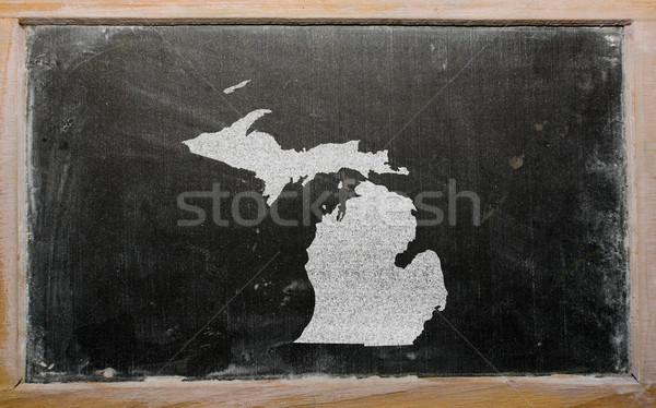Mapa Michigan pizarra dibujo americano Foto stock © vepar5