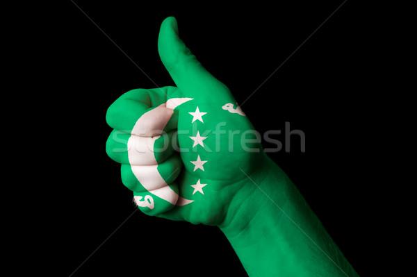 Comoras bandera pulgar hasta gesto excelencia Foto stock © vepar5