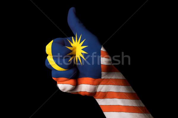 Malásia bandeira polegar para cima gesto excelência Foto stock © vepar5