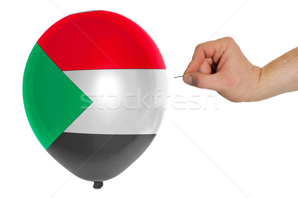 Léggömb színes zászló Szudán pop politika Stock fotó © vepar5
