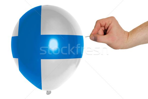 Balon kolorowy banderą Finlandia pojęcia polityka Zdjęcia stock © vepar5