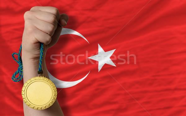 金メダル スポーツ フラグ トルコ 勝者 ストックフォト © vepar5