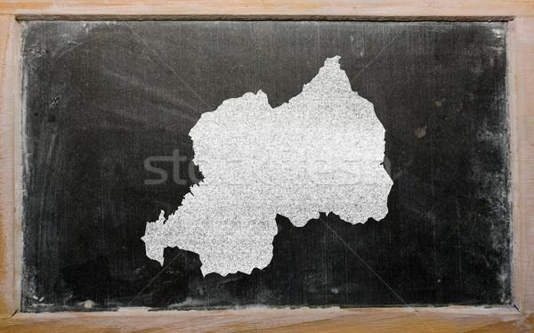карта Руанда доске рисунок Сток-фото © vepar5