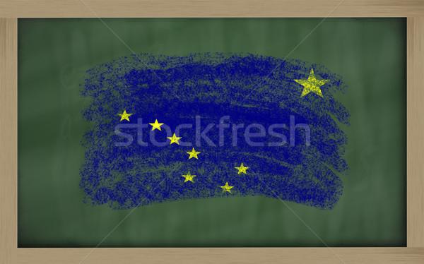 フラグ アラスカ州 黒板 描いた チョーク アメリカン ストックフォト © vepar5