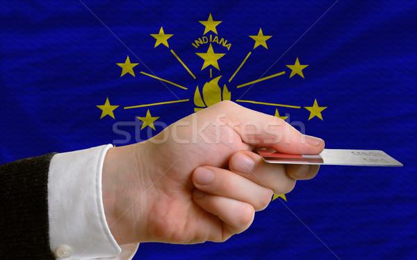 Vásárol hitelkártya Indiana férfi nyújtás ki Stock fotó © vepar5