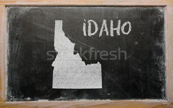 Schets kaart Idaho Blackboard tekening amerikaanse Stockfoto © vepar5