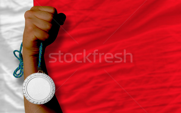 Prata medalha esportes bandeira Bahrein Foto stock © vepar5
