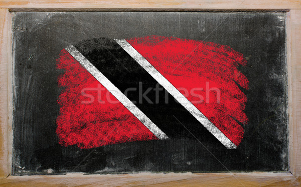 flag of trinidad and tobago on blackboard painted with chalk   Stock photo © vepar5