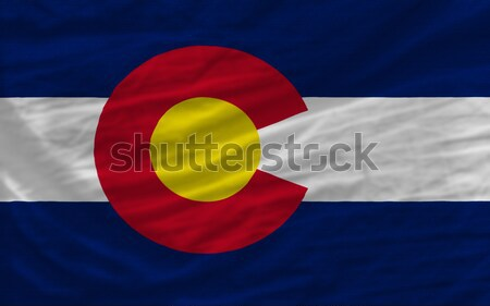 Compleet vlag amerikaanse Colorado geheel frame Stockfoto © vepar5