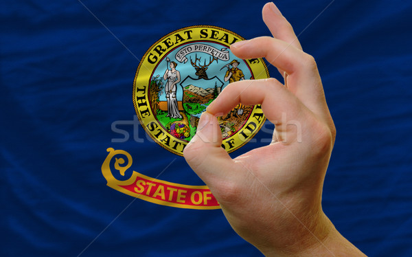ok gesture in front of idaho us state flag Stock photo © vepar5