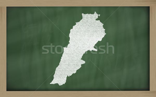 Skicc térkép Libanon iskolatábla rajz rajzolt Stock fotó © vepar5