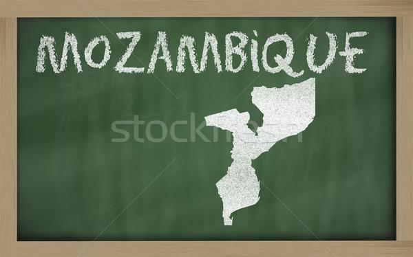 Mapa Moçambique lousa desenho Foto stock © vepar5