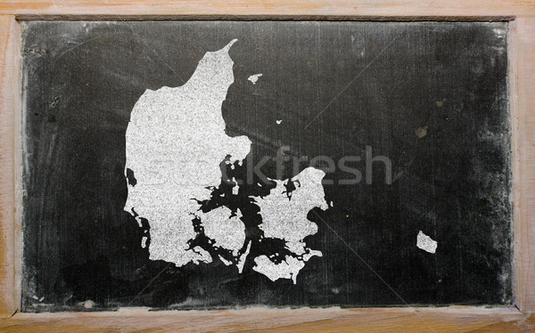 Schets kaart Denemarken Blackboard tekening Stockfoto © vepar5