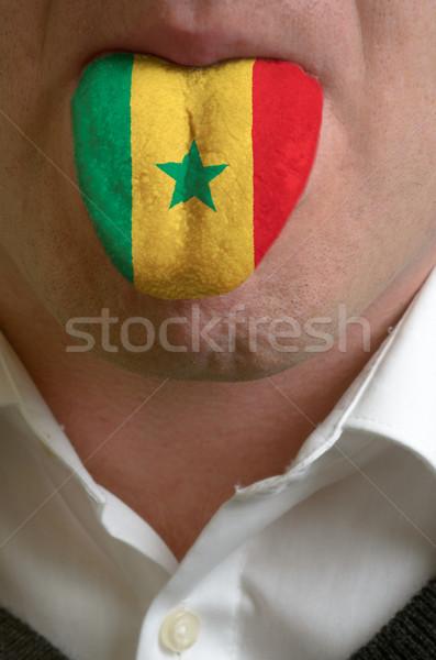 男 舌 描いた セネガル フラグ 知識 ストックフォト © vepar5