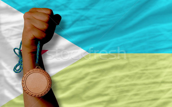 Bronz madalya spor bayrak spor Stok fotoğraf © vepar5