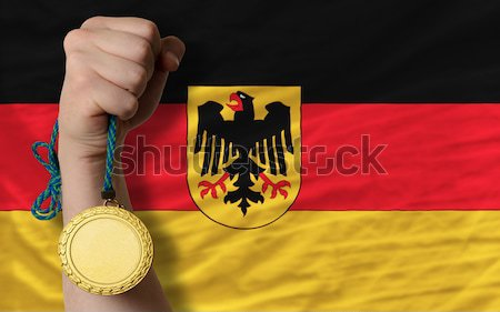 complete waved national flag of germany for background   Stock photo © vepar5
