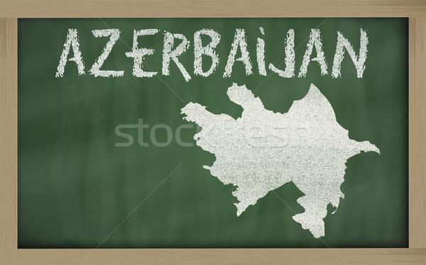 Mapa Azerbaiyán pizarra dibujo Foto stock © vepar5