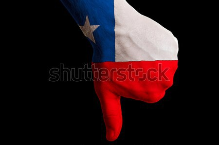 chile national flag thumbs down gesture for failure made with ha Stock photo © vepar5