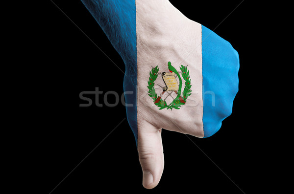 guatemala national flag thumbs down gesture for failure made wit Stock photo © vepar5
