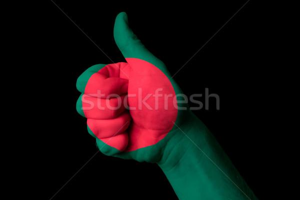 Bangladesh bandeira polegar para cima gesto excelência Foto stock © vepar5