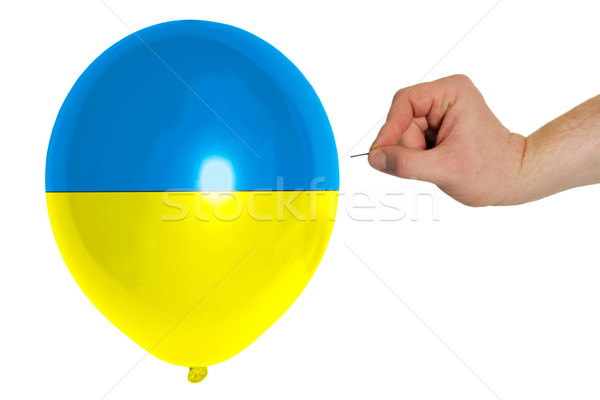 Bursting balloon colored in  national flag of ukraine    Stock photo © vepar5