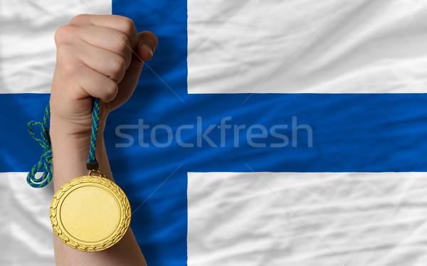 金メダル スポーツ フラグ フィンランド 勝者 ストックフォト © vepar5