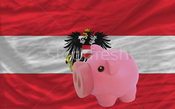 piggy rich bank and  national flag of austria    Stock photo © vepar5