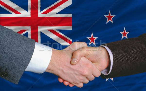 бизнесменов рукопожатие хорошие дело Новая Зеландия два Сток-фото © vepar5