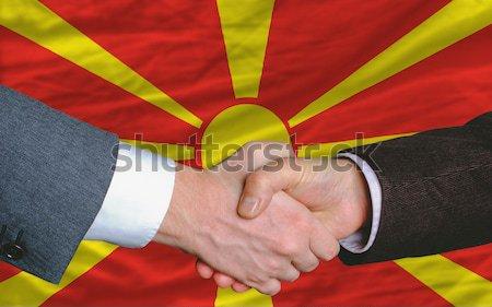 Flagge Arizona zwei Geschäftsleute Hände Stock foto © vepar5