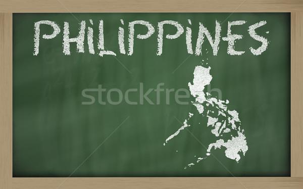 地図 フィリピン 黒板 図面 ストックフォト © vepar5