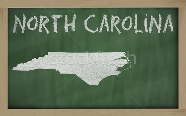 Сток-фото: карта · Северная · Каролина · доске · рисунок · доске
