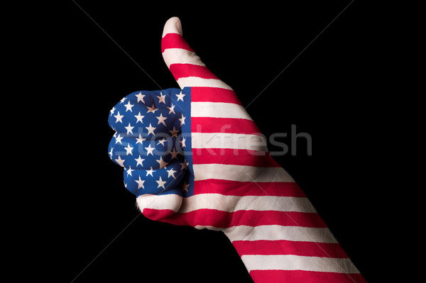 america national flag thumb up gesture for excellence and achiev Stock photo © vepar5