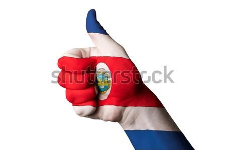 Таиланд флаг большой палец руки вверх жест превосходство Сток-фото © vepar5