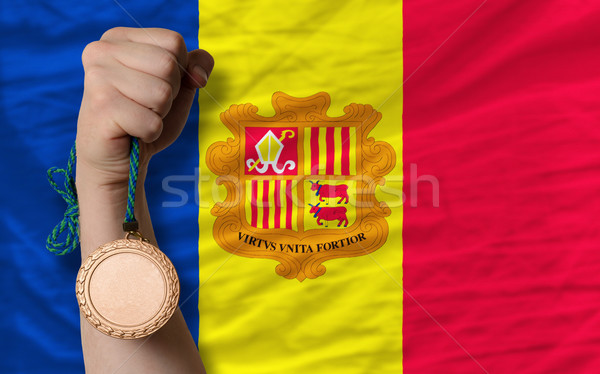 Bronze medal for sport and  national flag of andorra    Stock photo © vepar5