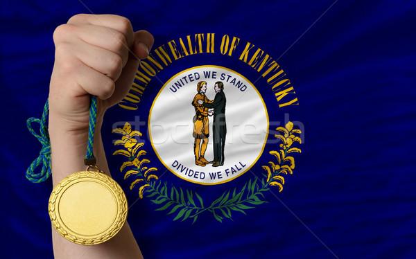 Medalha de ouro esportes bandeira americano Kentucky vencedor Foto stock © vepar5