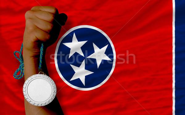 Plata medalla deporte bandera americano Tennesse Foto stock © vepar5