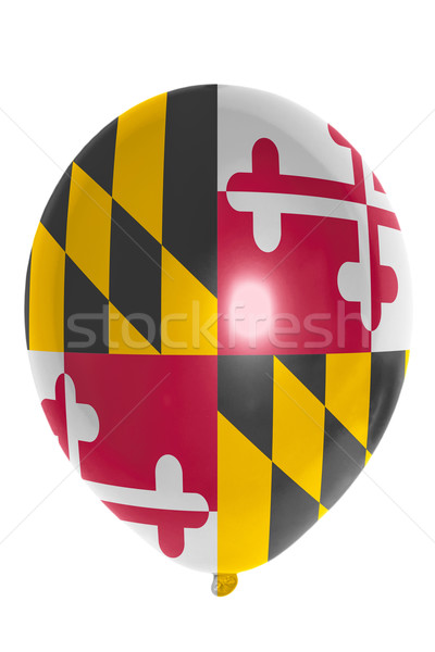 Balloon colored in  flag of american state of maryland    Stock photo © vepar5