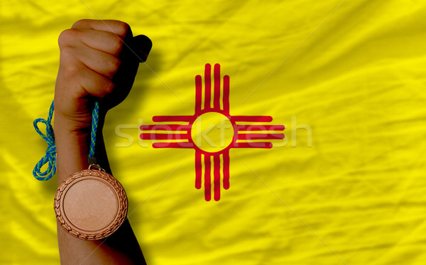 Bronze medalha esportes bandeira americano Novo México Foto stock © vepar5