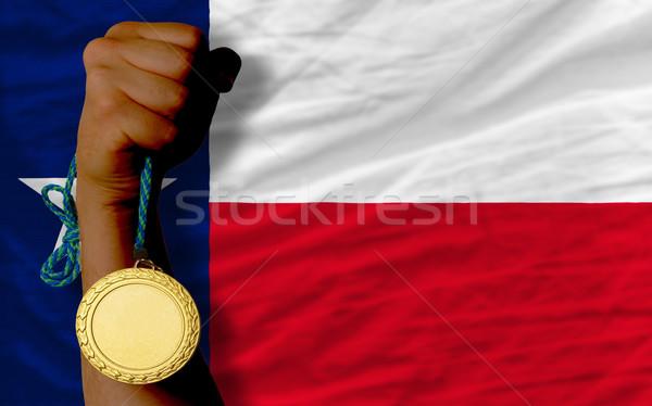 Médaille d'or sport pavillon Texas gagnant Photo stock © vepar5