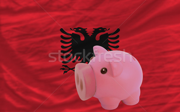 piggy rich bank and  national flag of albania    Stock photo © vepar5