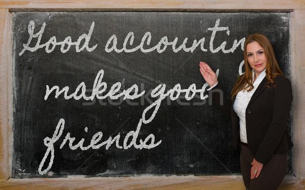 教師 良い 会計 友達 成功した ストックフォト © vepar5