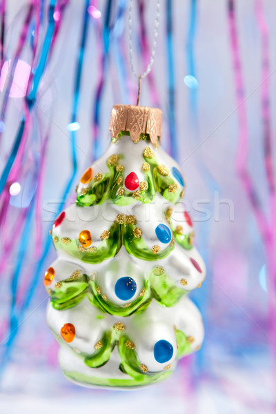 Christmas ornament shaped like a snow covered tree Stock photo © veralub