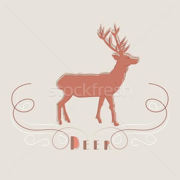 装飾的な 実例 鹿 文字 デザイン 芸術 ストックフォト © veralub
