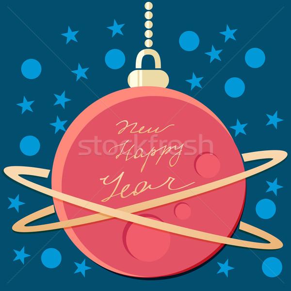 Rouge Noël babiole espace forme planète Photo stock © veralub