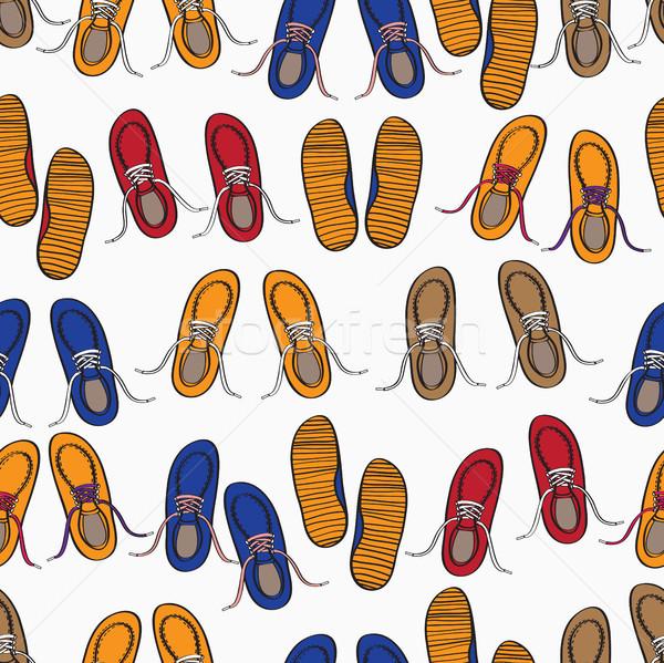 カラフル パターン 靴 カジュアル トレーナー ストックフォト © veralub