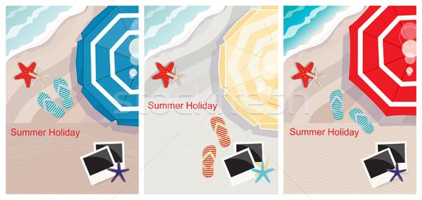 熱帯ビーチ デザイン コピースペース 3  表示 カラフル ストックフォト © veralub