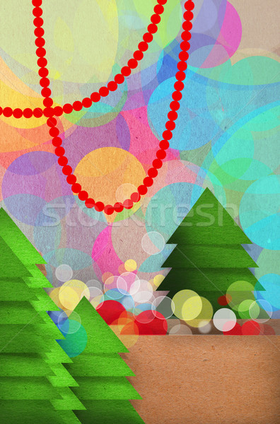 Festive Christmas tree design Stock photo © veralub