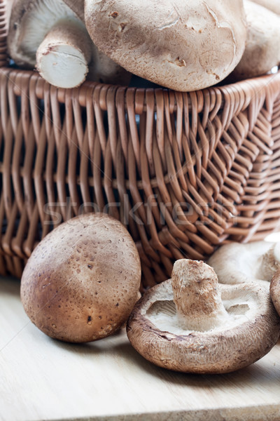 Fresh whole shiitake mushrooms Stock photo © veralub
